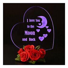 yo Te amo Corazon de cristal de la luna trasera Mama esposa ninas mejor regal...