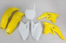 Kit plastique UFO motocross Suzuki RMZ 250 2007 - 2008 origine jaune