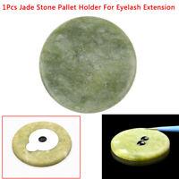 1Pcs Round Jade Stone Eyelash Extension Glue Adhesive Stand Pallet Stand HolADD