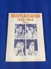 """Beatlemania"" 1963-1966, Vol.1 Piano~Vocal~Guitar Music Book ""The Beatles"""