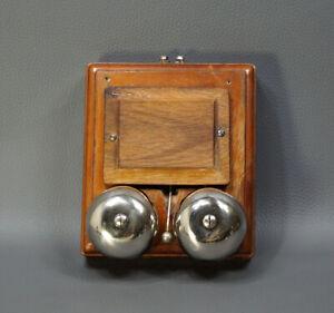 1920s Antique Wooden Electric Door Bell Butler Alarm Oak Wood 24V AC Working