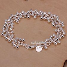925 sterling Silver Wedding women lady charms Grapes Beads chain cute Bracelet
