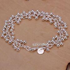 Silver Wedding9 pretty women lady charms Grapes Beads chain cute Bracelet bangle