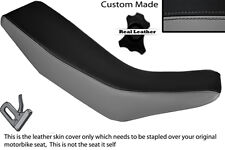 GREY & BLACK CUSTOM FITS HONDA CRM 250 R 89-92 DUAL LEATHER SEAT COVER