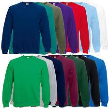Fruit of The Loom Raglan Sweatshirt Plain Sweater Jumper Top Pullover SS270