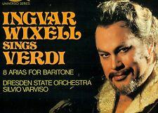 "INGVAR WIXELL SINGS VERDI 8 ARIAS DRESDEN STATE SILVIO VARVISO 12"" LP (L8739)"