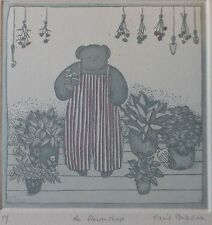 Harriet Brigdale, the flowershop limited edition 71/100 etching,