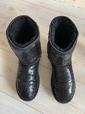 Genuine Black Sequin  Boots Genuine Ugg Boots Size 6.5