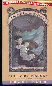 Audio book - The Wide Window by Lemony Snicket  -  Cass