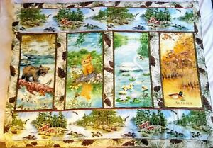 Quilted Handmade Beautiful Wall Hanging All Season Art Decor Quilt 48 x 38