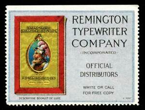 USA Poster Stamp - Remington Typewriter Co. - 1915 PPIE Exhibitor's Issue