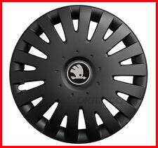 """4 x15"""" Wheel trims fit Skoda Octavia Fabia - 15'' black matt"""