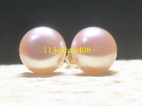 wholesale AAA+ akoya 8-9mm pink pearl earrings 14k Gold Limited time promotion!