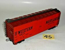 VINTAGE ATLAS 027 / O GAUGE WMRX 7 WESTERN MARYLAND 40' REEFER BOX CAR ORANGE 45