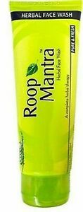 HERBAL ROOP MANTRA FACE WASH 115 ML REMOVES DIRT & FIGHT AGAINST ACNE +FREE SHIP