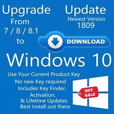 Windows 10 Upgrade for Windows 7 & 8 8.1 pro / home install update from download