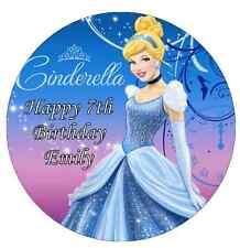 "Disney Princess Cinderella Personalised Cake Topper Edible Wafer Paper 7.5"""