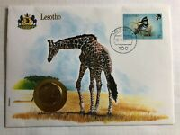 Numisbrief m. Münze + Banknotenbrief Lesotho 2 Maloti +++ UNC +++ NEU