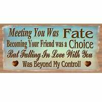 Romantic Wood Signs -Meeting You Was Fate GS 1784 -GiggleSticks