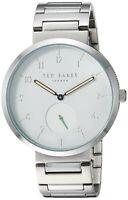NEW Ted Baker Josh Men's Silver Tone Stainless Steel Quartz Watch - TE50011010