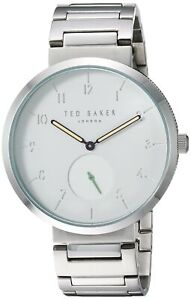 Ted Baker Josh Men's Silver Tone Stainless Steel Quartz Watch - TE50011010 NEW