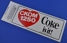 Coca Cola Adesivo USA 1982 Adesivo Decalcomania - Cuore Noi Radio Stazione Ckom