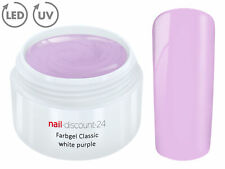 Color UV Gel LED FARBGEL WHITE PURPLE French Modellage NailArt Design Nagel Lila