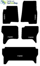 TAPIS MITSUBISHI PAJERO V60 7 PLACES 1999-06 broderie : 00' blanc + 4 Fixer