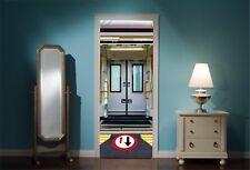 Puerta Mural AllBoard el tren puertas Vista Pegatinas De Pared Calcomanía Wallpaper 102
