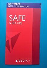 DELTA AIRLINES 737-900ER SAFETY CARD