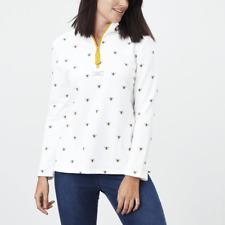 Joules Pip Print Womens Casual Half Zip Sweatshirt - Cream Bees