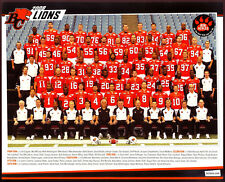 2008 CFL bc lions Team issue Orig 8X10 TEAM PHOTO w/ Geroy Simon Jason Clermont