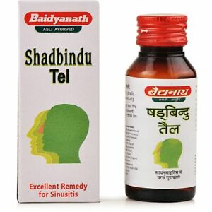 Baidyanath Shadbindu Tail (Oil) 50ml Herbal medication for Sinusitis,Headache US