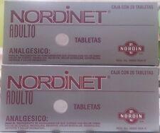 NORDINET NORDIN Headache~Muscle~Rheumatic Discomfort Relief OTC Medicine 2pk