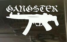 Gangster gun machine automatic car 4X4 Sticker 210 x 120 aussie made & designed