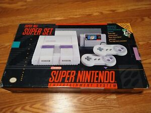 Super Nintendo SNES Console System EMPTY BOX ONLY Vintage Video Games