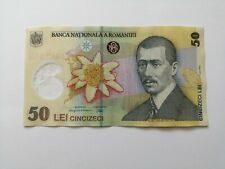 More details for romania, 50 lei leu banknote note polymer eagle airplane circulated vf