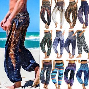 Harem Pants Boho Fisherman Hippie Gypsy Yoga Festival Loose Comfy Wide Trouserss