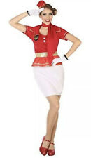 Air Hostess Ladies Fancy Dress Outfit Hen Party Night Dress With Hat
