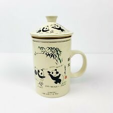 3 Piece | World Market Tea Infuser Panda Bear Lidded Mug