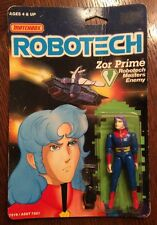 Vintage Matchbox ROBOTECH Zor Prime Action Figure New On Card Not Mint 1985
