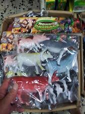 kit gioco animali grandi fattoria animal toy  giocattolo plastica mucca maiale
