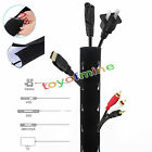 1.2M Cable Management Sleeve Flexible Neoprene Cable Organizer Wrap for PC TV