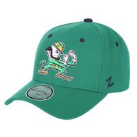 Notre Dame Fighting Irish Zephyr NCAA SF R Team Curved Pinch Snapback Hat - Gree