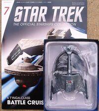 Eaglemoss Diecast Star Trek Klingon K'Tinga Class Battle cruiser #7 w/Magazine