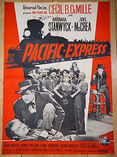 Affiche de cinéma : PACIFIC EXPRESS de CECIL B. DEMILLE
