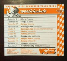 1994 Tennessee Vols Volunteers Football Pocket Schedule