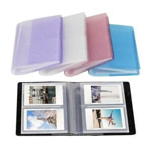 64 Pockets 3 Inch Quicksand Photo Album Mini Instant Picture Storage Organizers