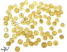"""Set 81 Vintage Yellow Glass Buttons - 2 Sizes 5/16 & 3/8"""" - Crafts, Jewelry, Sew"""