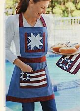 All American Apron And Pot Holder Quilt Pattern Pieced PK